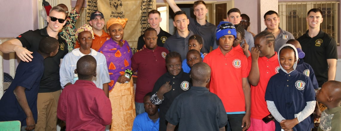 US Marines donate toys and T-shirts to Reception and Orientation Center in Faladje